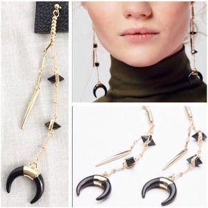 Free People Golden Horn Duster Earrings